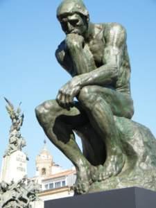 El pensador. Escultura realizada por Auguste Rodin