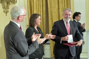 Entrega del Premio Pro Familii en Budapest